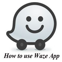 How to use Waze App Image
