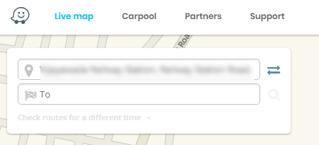 Waze Maps Destination Image
